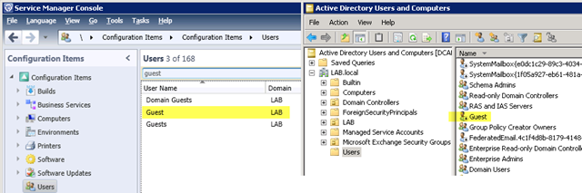 Active directory filter disabled users